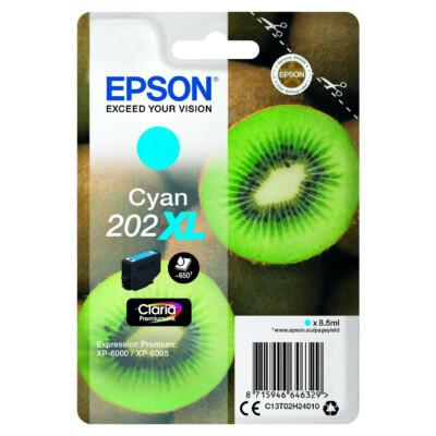 Epson T02H2 Patron Cyan 8,5ml XL (Eredeti)