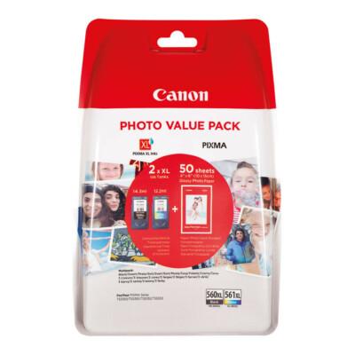 Canon PG560XL+CL561XL Multipack + 50db ajándék fotópapír