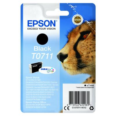Epson T0711 Patron Black 7,4ml (Eredeti)