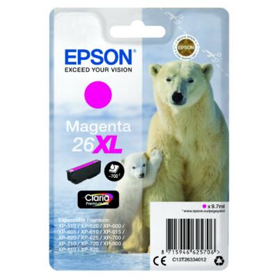 Epson T2633 Patron Magenta 9,7ml 26XL (Eredeti)