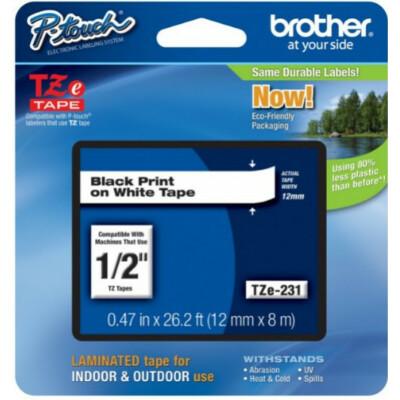 Brother TZe231 12 mm széles 8 m hosszú szalagkazetta
